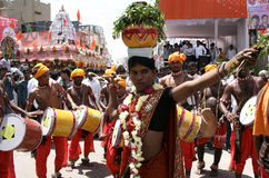 Hindu devotee carry bonam to the mahankkali Stock Images