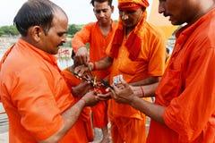 Hindu Devotee Stock Photo