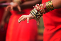 Hindu devotee's hand Royalty Free Stock Photos