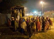 Hindu devotees , Babughat, Kolkata. BABUGHAT, KOLKATA, WEST BENGAL / INDIA - 9TH JANUARY 2013 : Hindu devotees arriving on 9th January, 2013 in Babughat transit Stock Photos