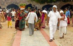 Hindu devotees carry Bonam to the temple Stock Image