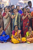 Hindu devotees gather and pray. During the chariot festival at Richmomd Hill Temple Royalty Free Stock Photography
