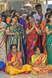 Hindu devotees gather and pray Royalty Free Stock Image