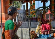 Hindu devotees at Kathikama Kovila Stock Photo