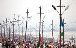 Hindu devotees at Kumh Mela festival Stock Photos