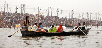Hindu devotees at Kumh Mela festival Stock Images