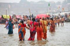 Hindu devotees at Kumh Mela festival Royalty Free Stock Photos