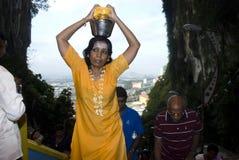 A Hindu devotees at Lord Murugan Temple Stock Image