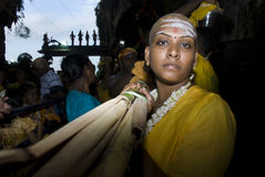 A Hindu devotees at Lord Murugan Temple Royalty Free Stock Photography