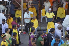 Hindu Devotees preparation Royalty Free Stock Images