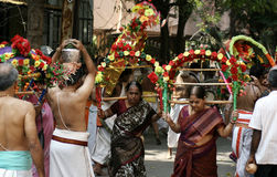 Hindu devotees take procession of lord Subramanya swamy,Hyderabad,India Royalty Free Stock Image