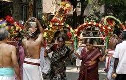 Hindu devotees take procession of lord Subramanya swamy,Hyderabad,India Royalty Free Stock Image