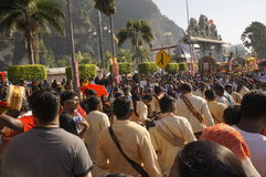 Hindu Devotees during Thaipusam festival Stock Photos