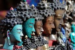 Hindu Faces. Hindu idol faces in Kathmandu, Nepal Stock Photography