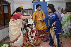 Hindu Family Stock Image