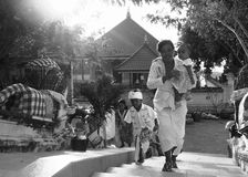 Hindu Family Going To Temple Royalty Free Stock Photo