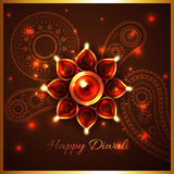 Hindu festival background of diwali. Vector hindu festival background of diwali