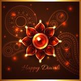 Hindu festival background of diwali Royalty Free Stock Photo