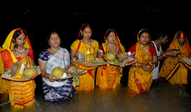 Hindu Festival Chatt royalty free stock image