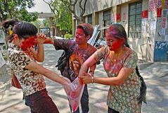 Hindu Festival of Colours Stock Images