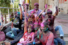 Hindu Festival of Colours Stock Photos