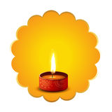 Hindu festival diwali diya background Royalty Free Stock Photography