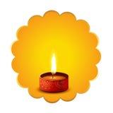 Hindu festival diwali diya background. Vector hindu festival diwali diya background Royalty Free Stock Photography