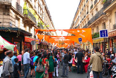 Hindu Festival Ganesh Chaturthi Day Paris Stock Image