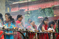 Hindu festival in Kathmandu Stock Images