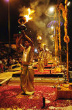Hindu fire ritual Stock Photo