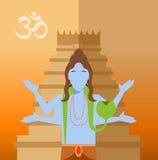 Hindu flat icon Stock Image