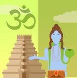 Hindu flat icon2 Royalty Free Stock Image