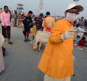 Hindu-Freiwilliger lizenzfreie stockbilder