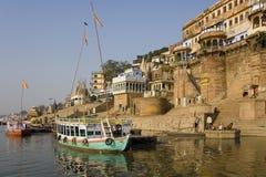 Hindu Ghats - River Ganges - Varanasi royalty free stock images