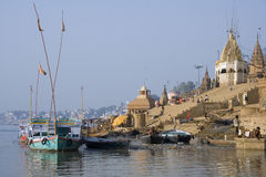 Hindu Ghats - River Ganges - Varanasi -India Royalty Free Stock Photography