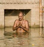 Hindu Ghats - Varanasi - India royalty free stock photos