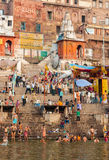 Hindu Ghats - Varanasi in India Stock Photography