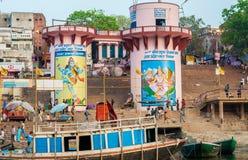 Hindu Ghats - Varanasi in India Royalty Free Stock Photography