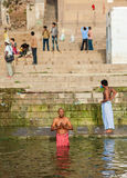 Hindu Ghats - Varanasi in India Stock Image
