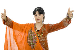 Hindu girl Stock Photo