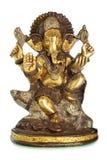 Hindu God Ganesh. Isolated over the white background Royalty Free Stock Image