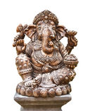 Hindu god Ganesh isolated on white Stock Photo