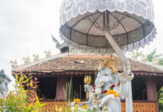 Hindu god ganesh silver statue in the temple Chiang Mai Thailan Royalty Free Stock Images