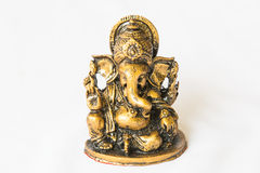Hindu God Ganesh Statue on white Royalty Free Stock Images