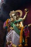 Hindu god Ganesha. Close-up of carved idol of Hindu god Ganesha - Lorf of good omen royalty free stock photography