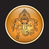 Hindu God Ganesha. Hand drawn tribal style. Vector. Royalty Free Stock Images