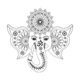 Hindu God Ganesha head. Stock Photo
