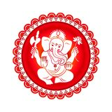 Hindu God Ganesha. Vector illustration Stock Photography