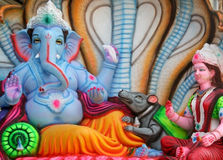 Hindu god Ganesha and his consort Idol Royalty Free Stock Image