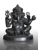 hindu God Ganesha isolated on white Stock Photos
